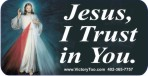 Jesus, I Trust In You 1x2 Envelope Sticker